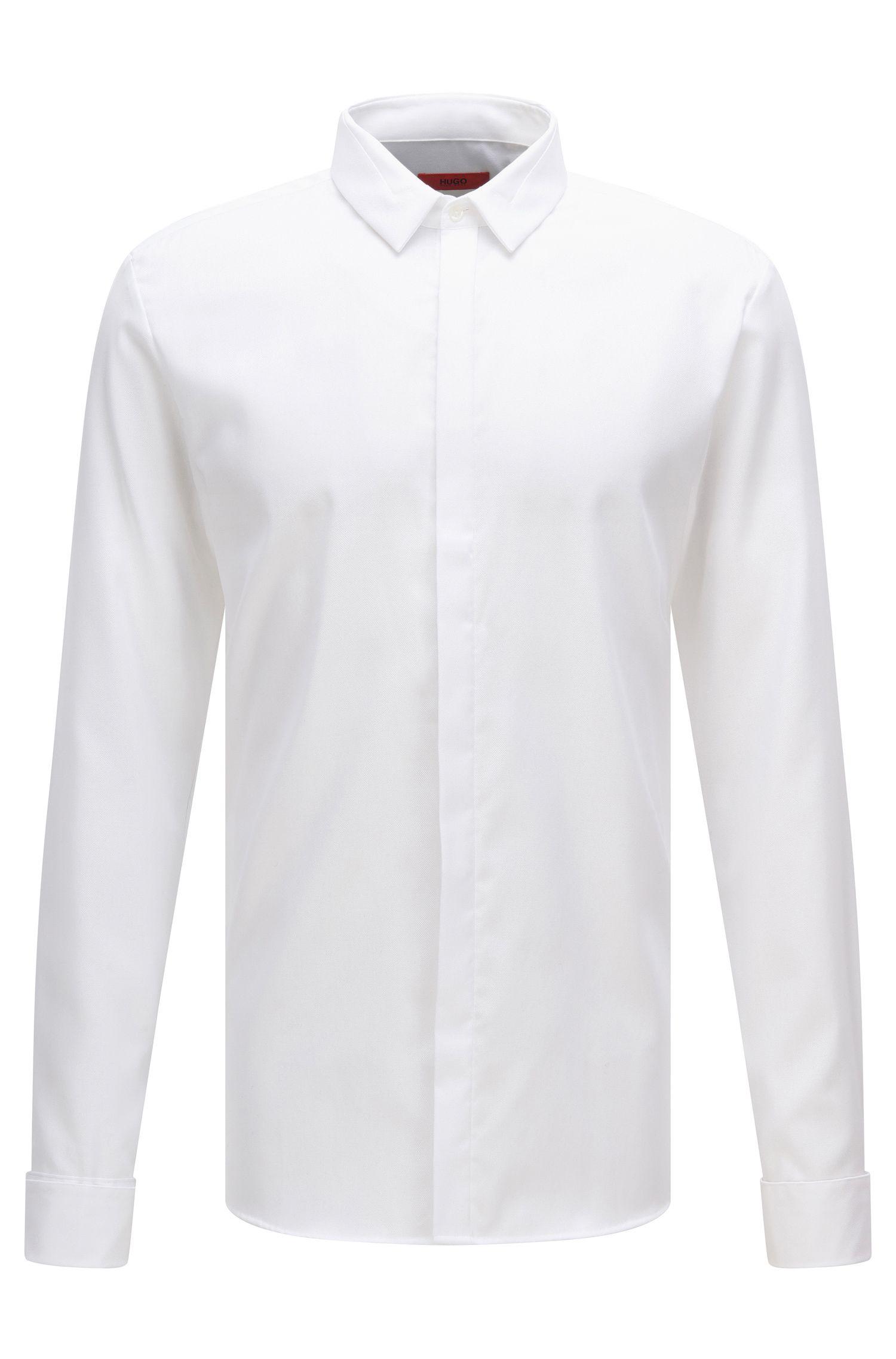 Extra slim-fit overhemd van gemakkelijk te strijken katoen: 'Etris'