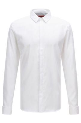 Extra slim-fit overhemd van gemakkelijk te strijken katoen: 'Etris', Wit