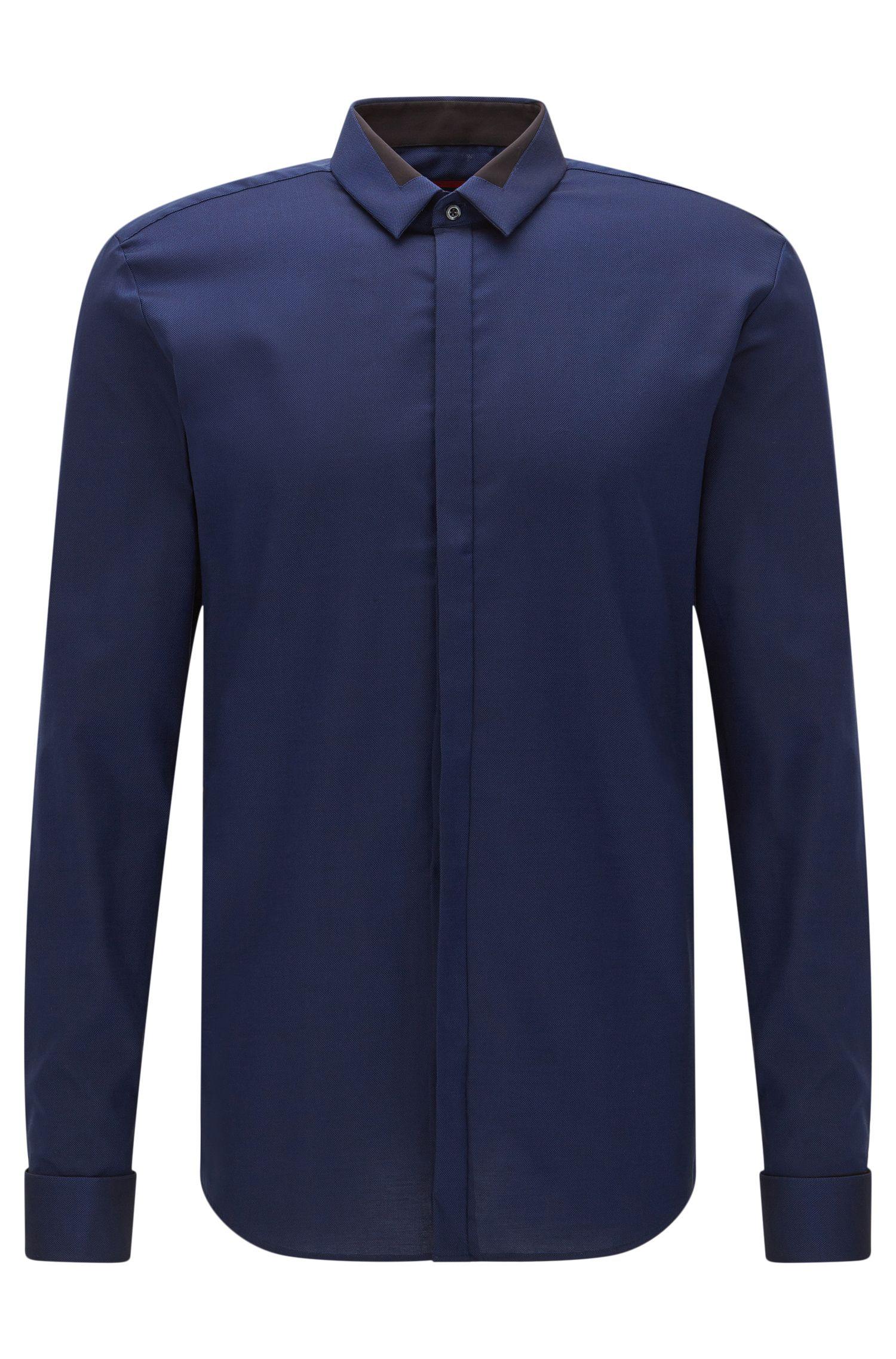 Extra Slim-Fit Hemd aus bügelleichter Baumwolle: 'Etris'
