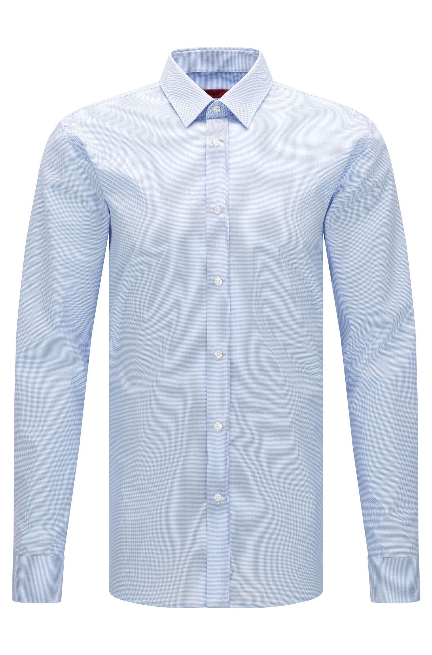 Fein kariertes Extra Slim-Fit Hemd aus bügelleichter Baumwolle: 'Elisha01'