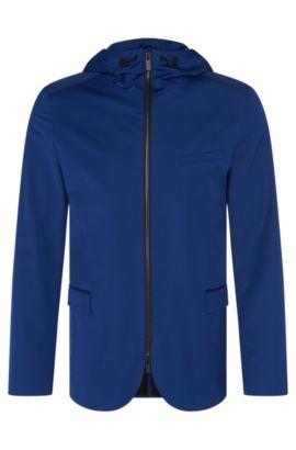 Regular-Fit Jacke im Sakko-Design mit Kapuze: 'Atlent', Blau