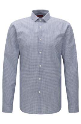 Fein kariertes Extra Slim-Fit Hemd aus Baumwolle: 'Erondo', Blau