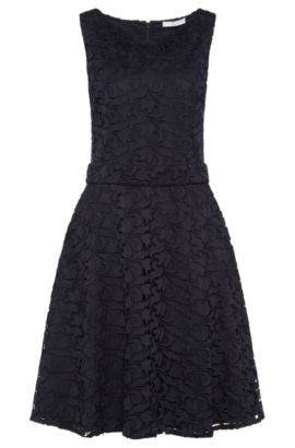 Sleeveless layered-look dress: 'Dyferana', Dark Blue