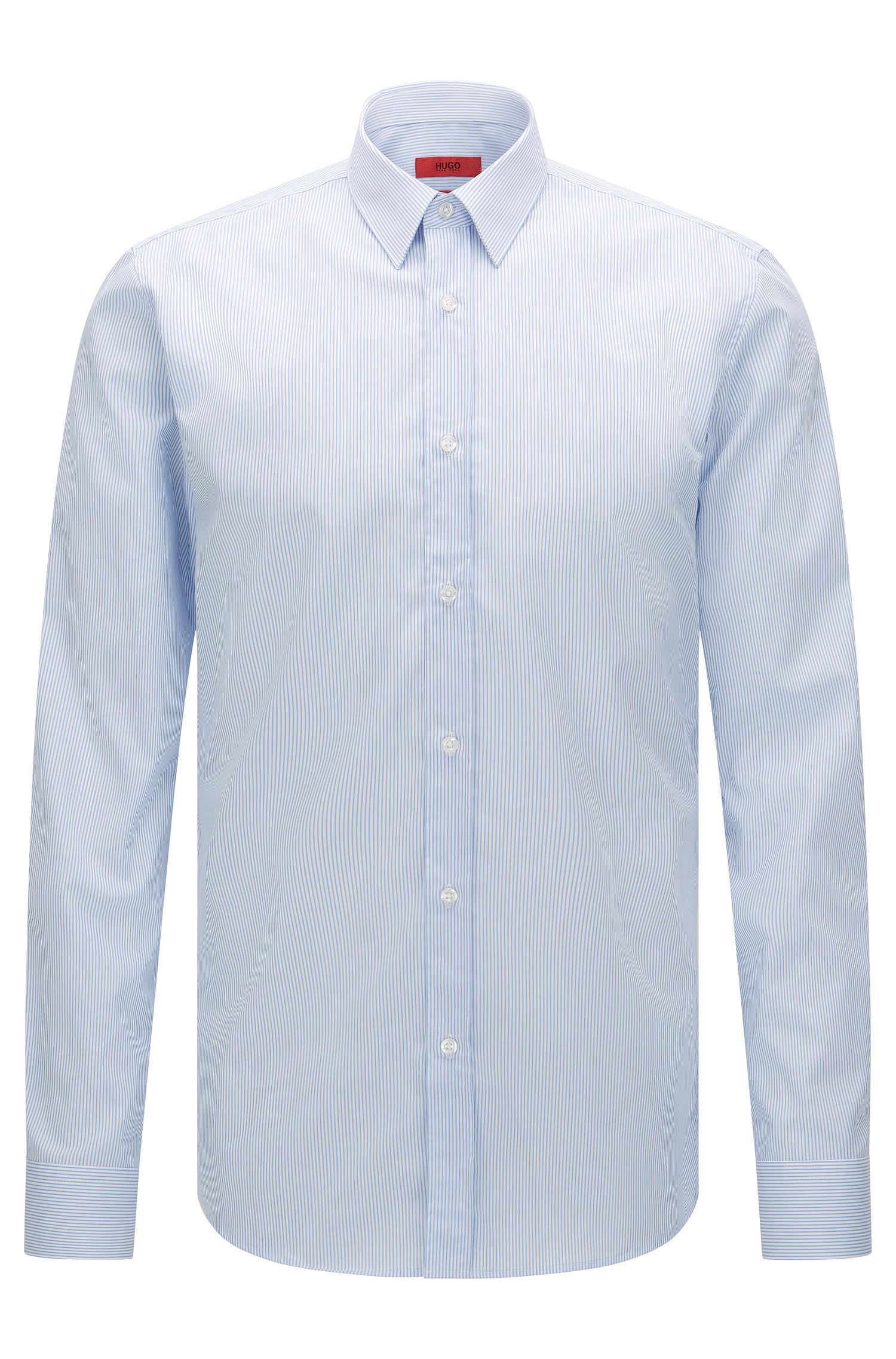 Striped extra slim-fit shirt in easy-iron cotton: 'Elisha01'