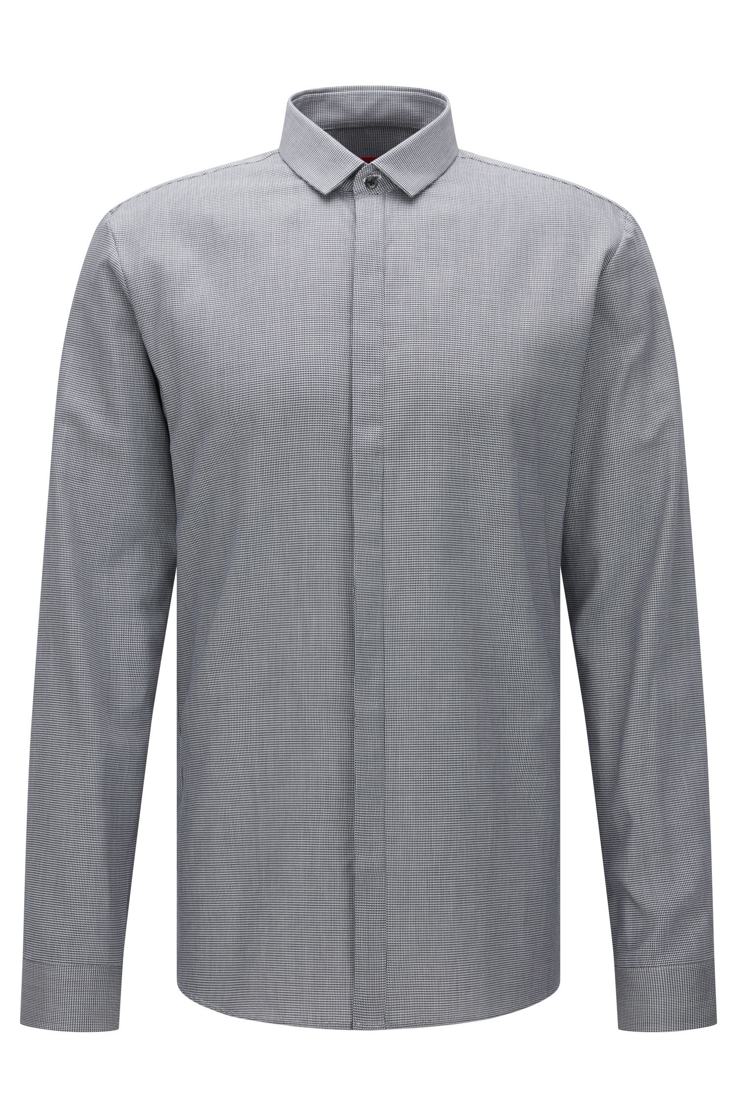 Finely patterned extra-slim fit shirt in cotton: 'Ebros'
