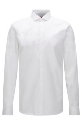 Camisa extra slim fit en algodón fácil de planchar: 'Erondo', Blanco