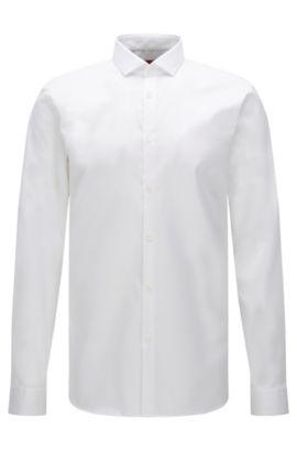 Extra slim-fit shirt in easy-iron cotton: 'Erondo', Open White