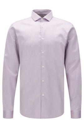 Extra Slim-Fit Hemd aus bügelleichter Baumwolle: 'Erondo', Lila