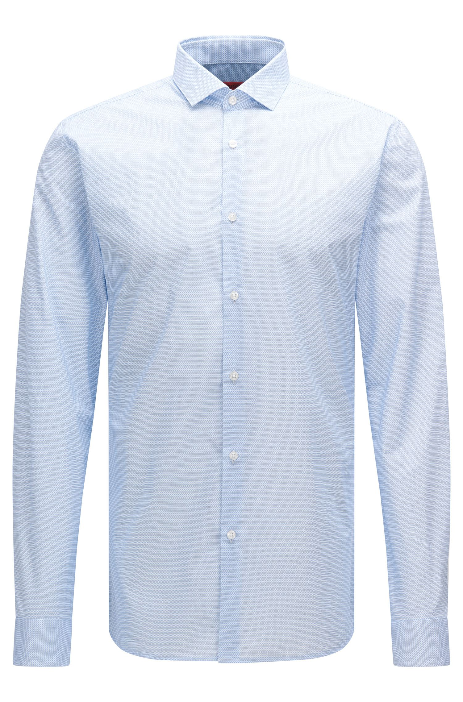 Patterned extra-slim fit shirt in cotton: 'Erondo'