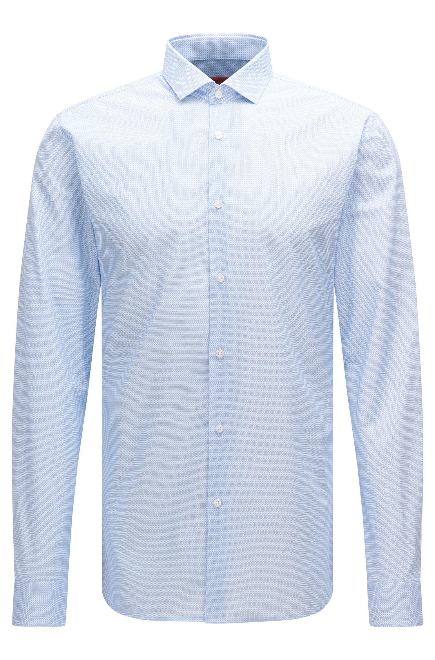 Extra slim-fit overhemd van katoen met dessin: 'Erondo'