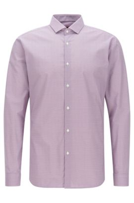 Patterned extra-slim fit shirt in cotton: 'Erondo', Purple