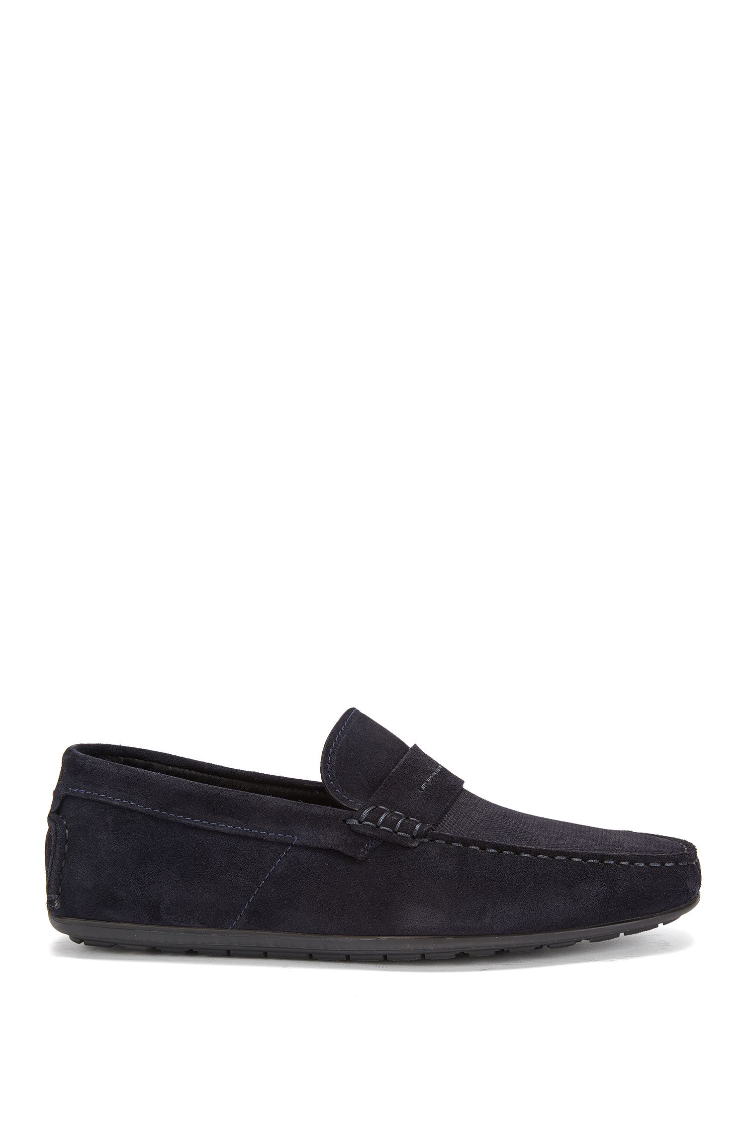 Mocassini slip-on in pelle scamosciata italiana