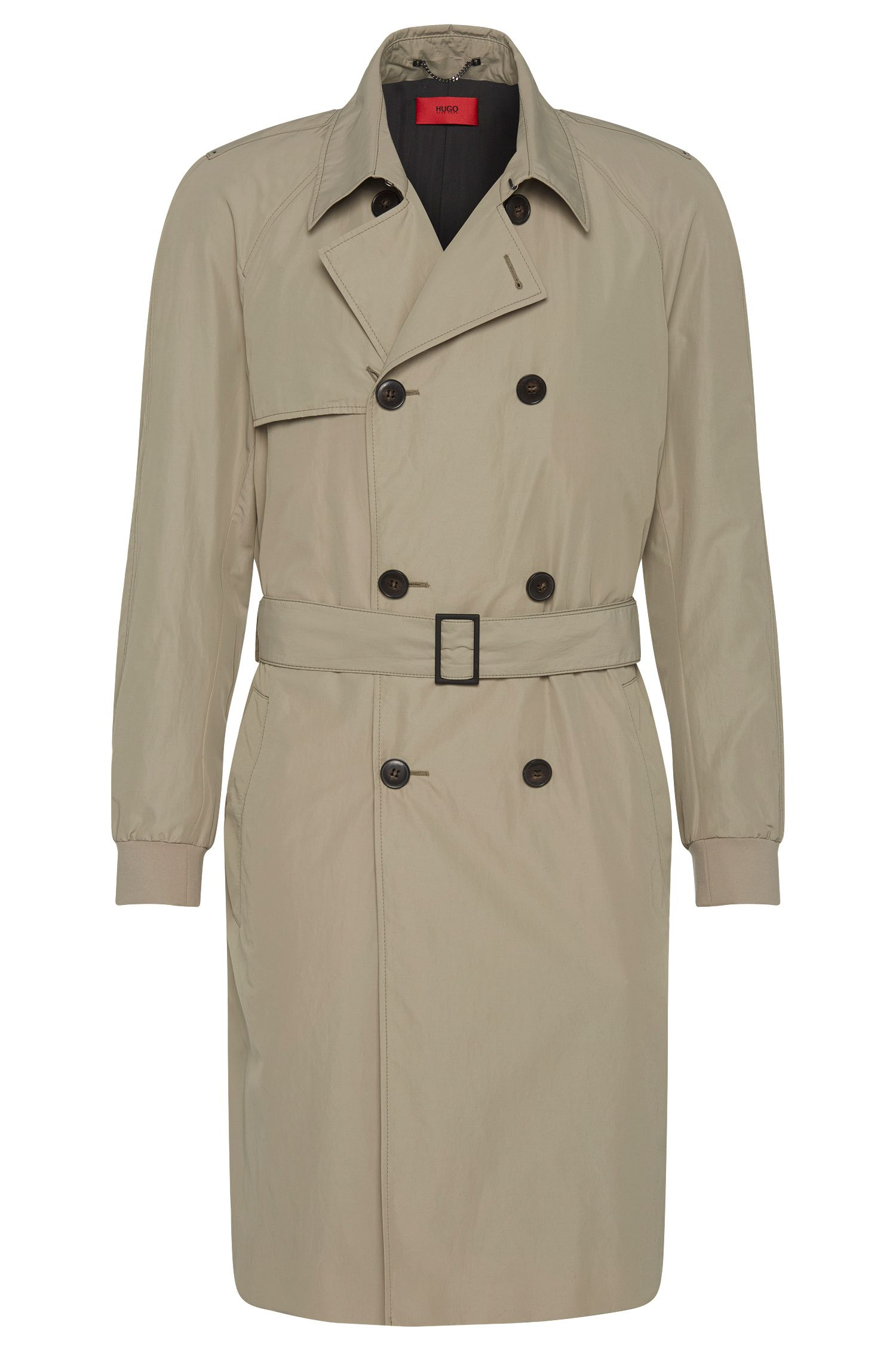 Trench coat with elasticated sleeve cuffs: 'Matigo'