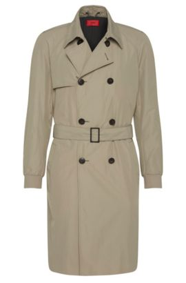 Trench coat with elasticated sleeve cuffs: 'Matigo', Beige