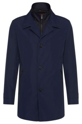 Jacket with double-layered collar: 'Barelto3', Dark Blue