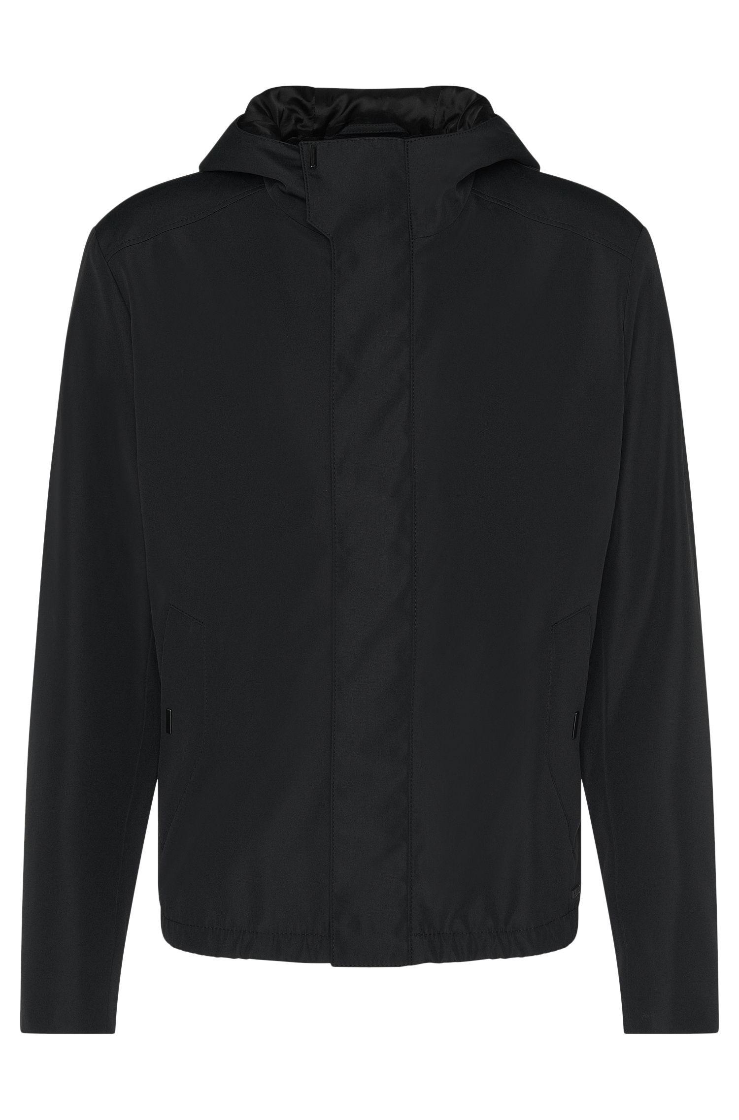 Waterafstotende regular-fit jas met capuchon: 'Batrez'