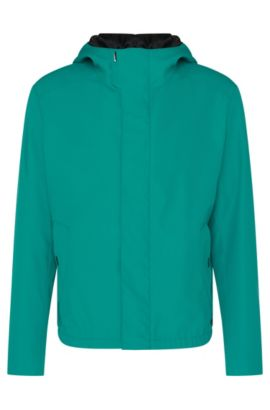 Water-repellent regular-fit hooded jacket: 'Batrez', Green