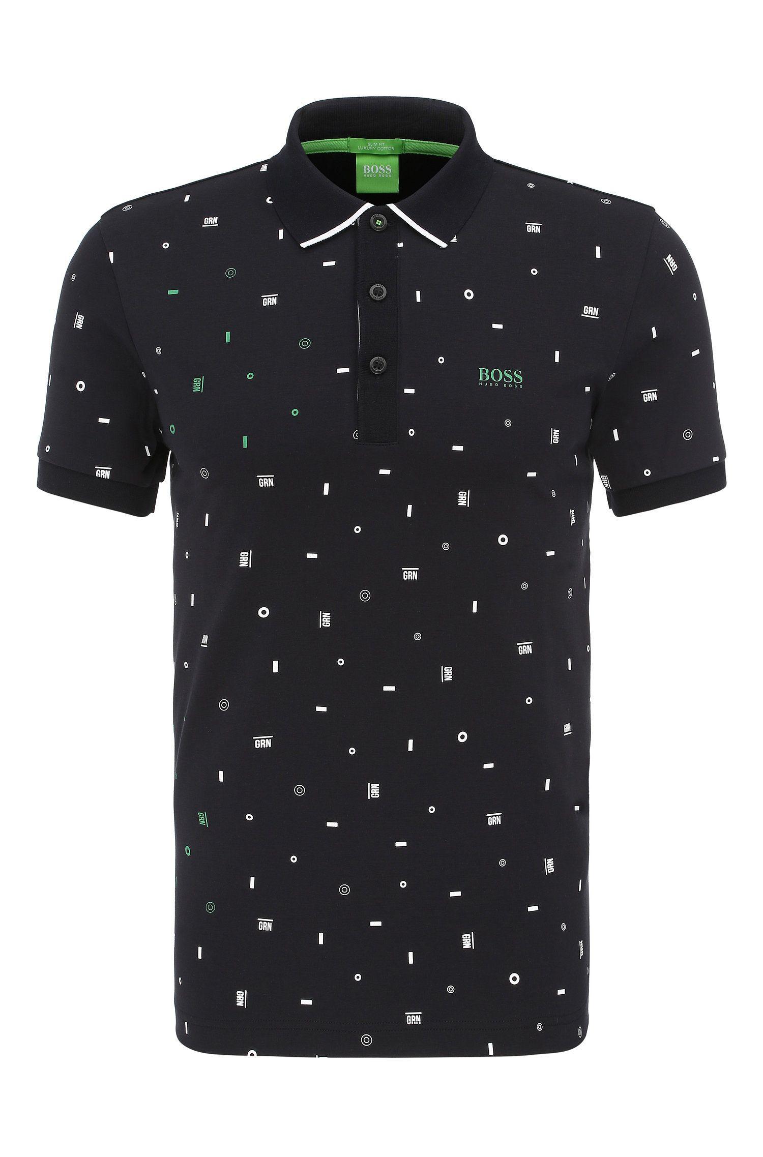 Slim-Fit Poloshirt aus Baumwolle mit Print: ´Paule 3`