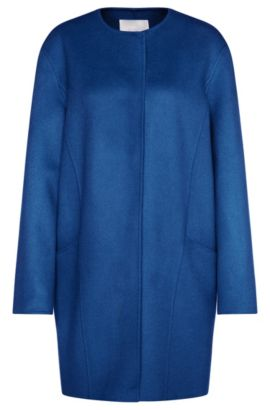 Oversized coat in new wool: 'Camora1', Blue