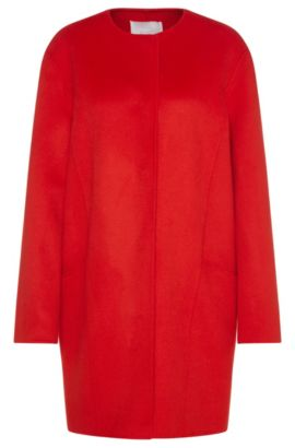 Oversized coat in new wool: 'Camora1', Red