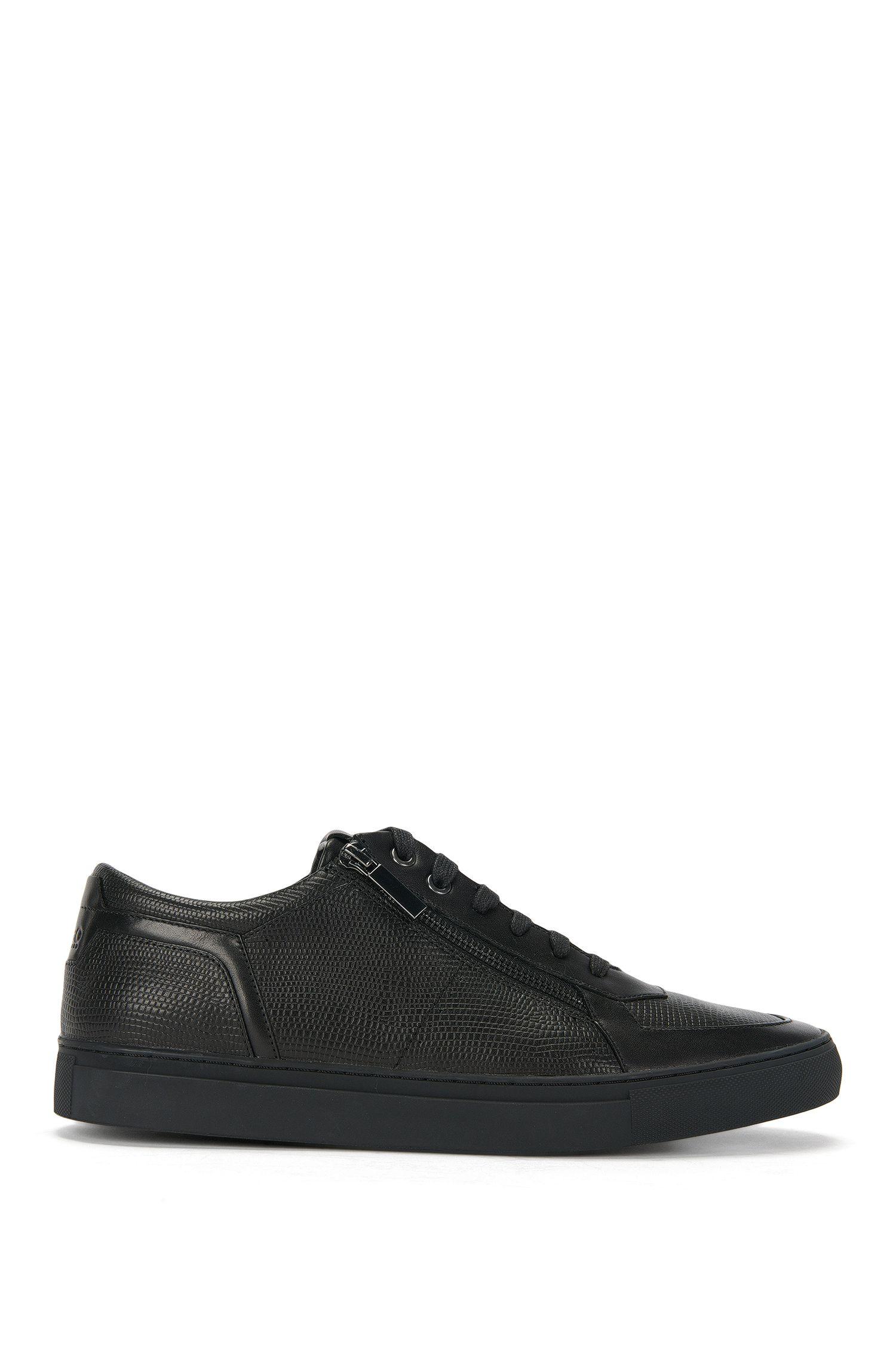 Sneakers in pelle con struttura mista: 'Futursim_Tenn_exo'