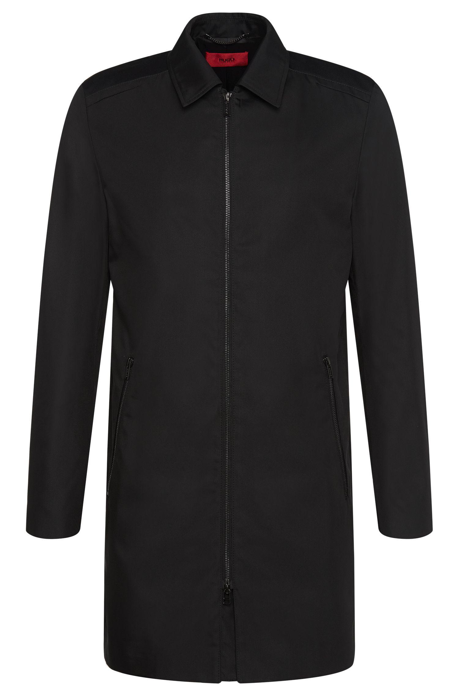 Slim-fit mantel met dubbelzijdige ritssluiting: 'Melcet'