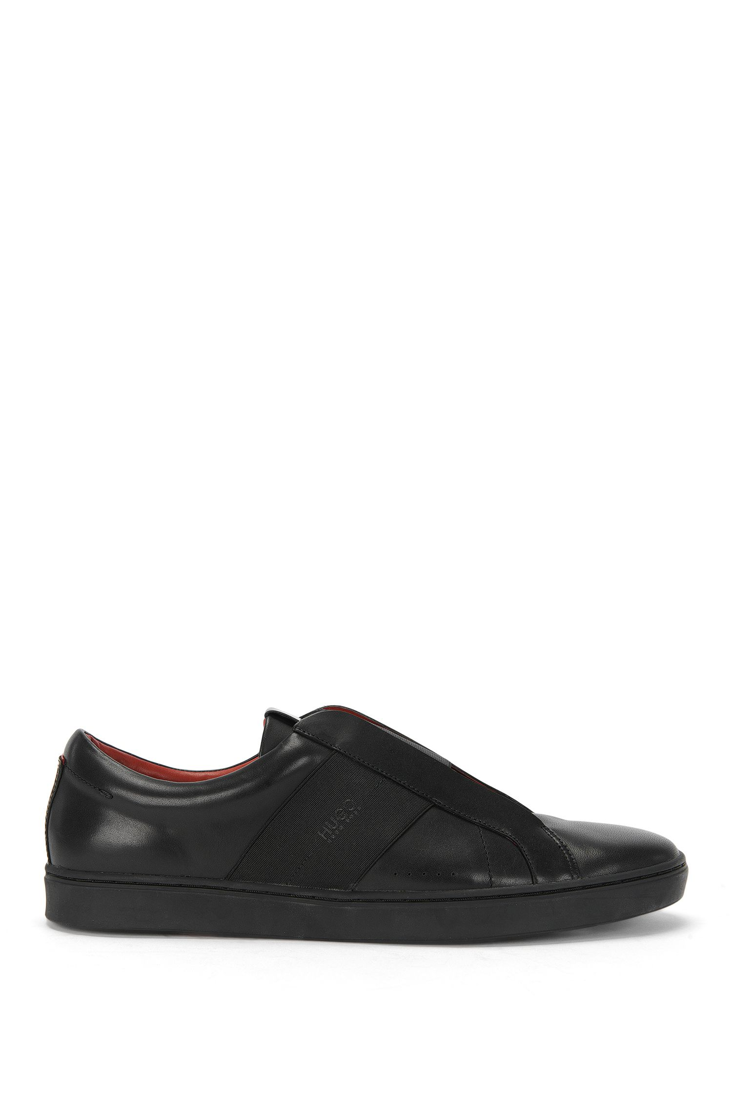 Sneakers slip-on in pelle nappa