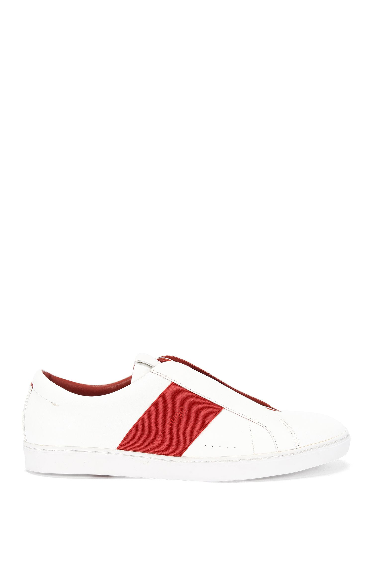 Slip-on trainers in nappa leather