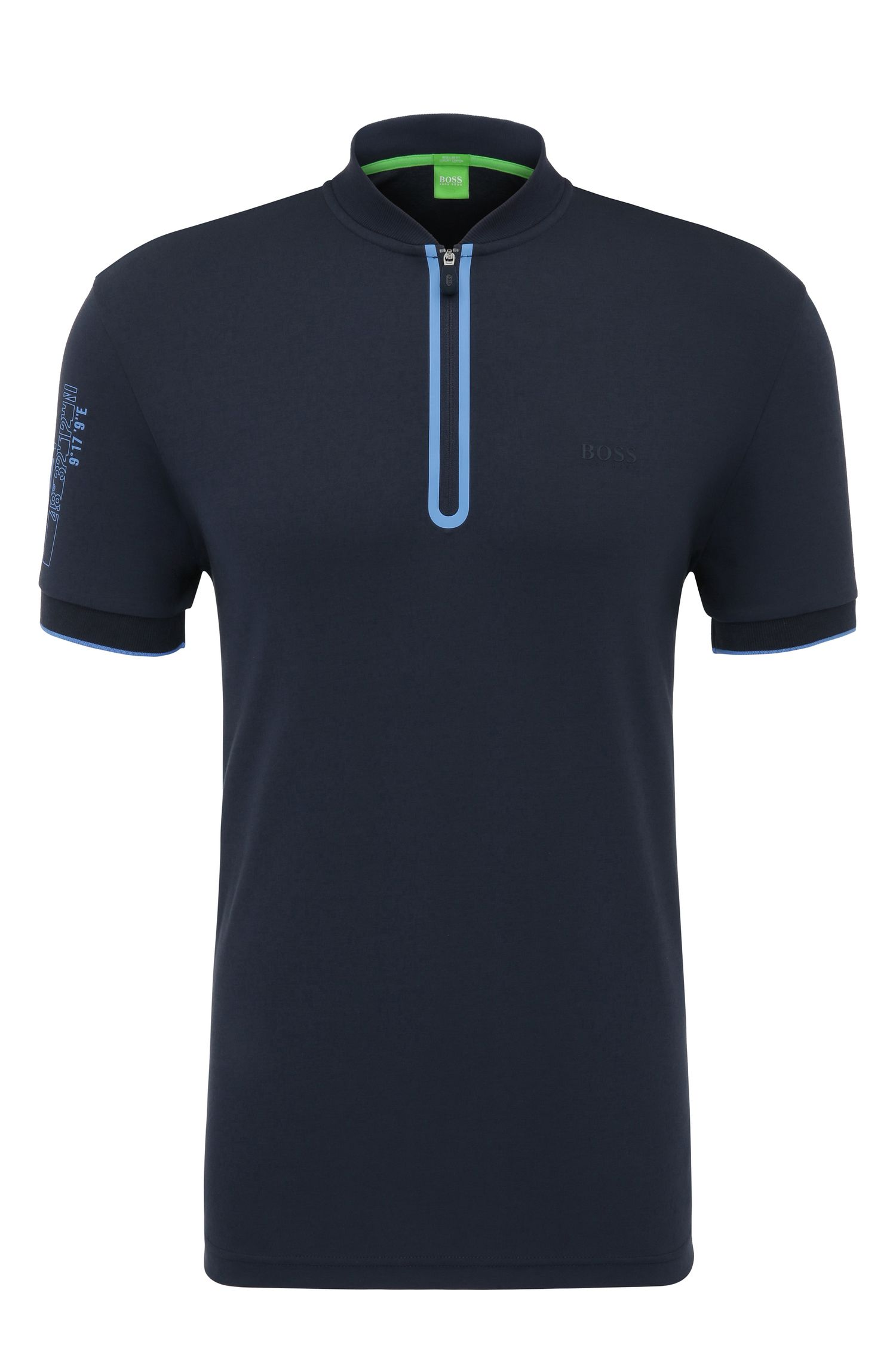 Regular-fit polo shirt in cotton with logo print: 'Pariq'