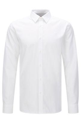 Extra slim-fit shirt in textured cotton: 'Elisha', Open White
