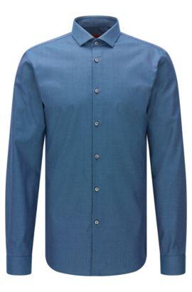 Camisa slim fit estampada en algodón: 'Erondo', Verde