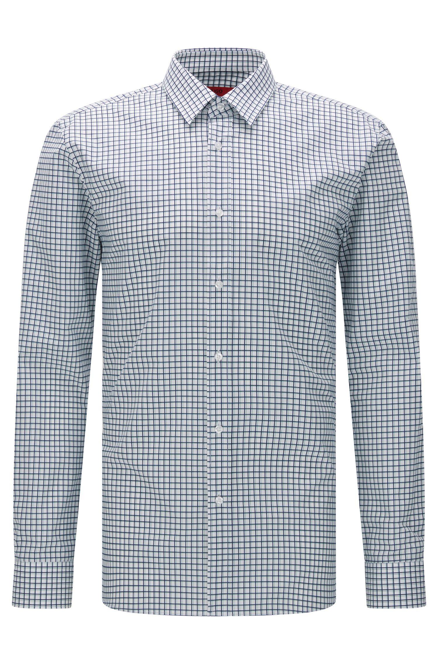 Kariertes Extra Slim-Fit Hemd aus Baumwolle: 'Elisha'