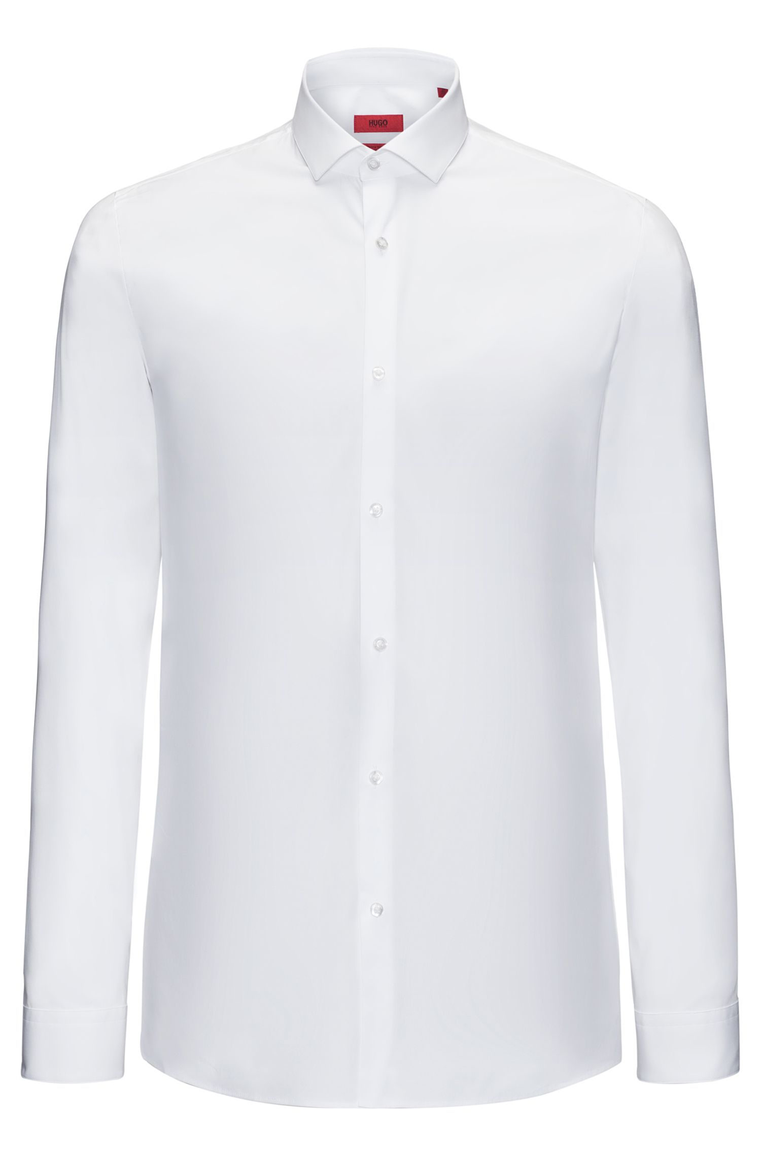 Extra slim-fit shirt in stretch cotton, White