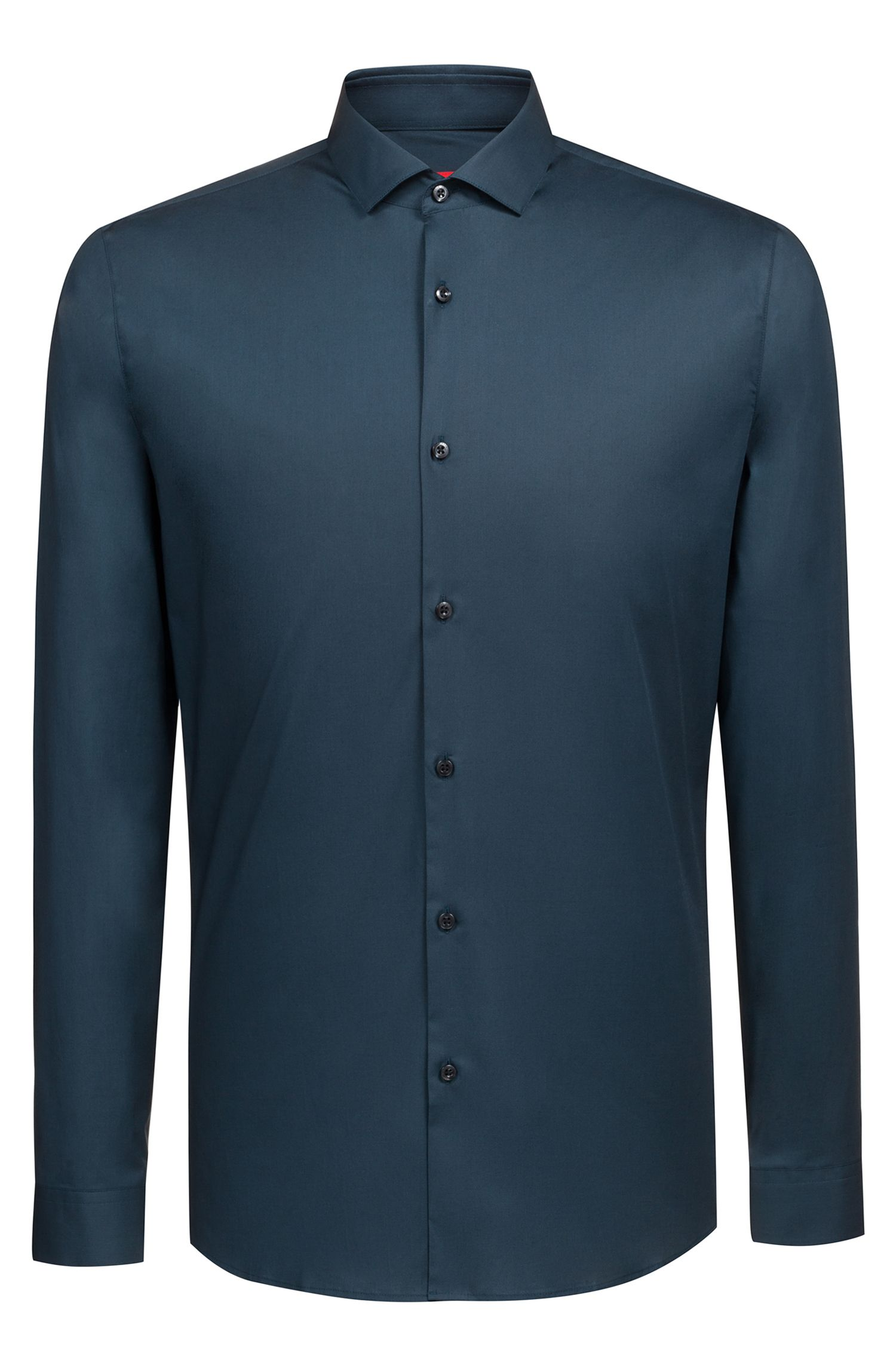 Extra slim-fit shirt in stretch cotton, Dark Green