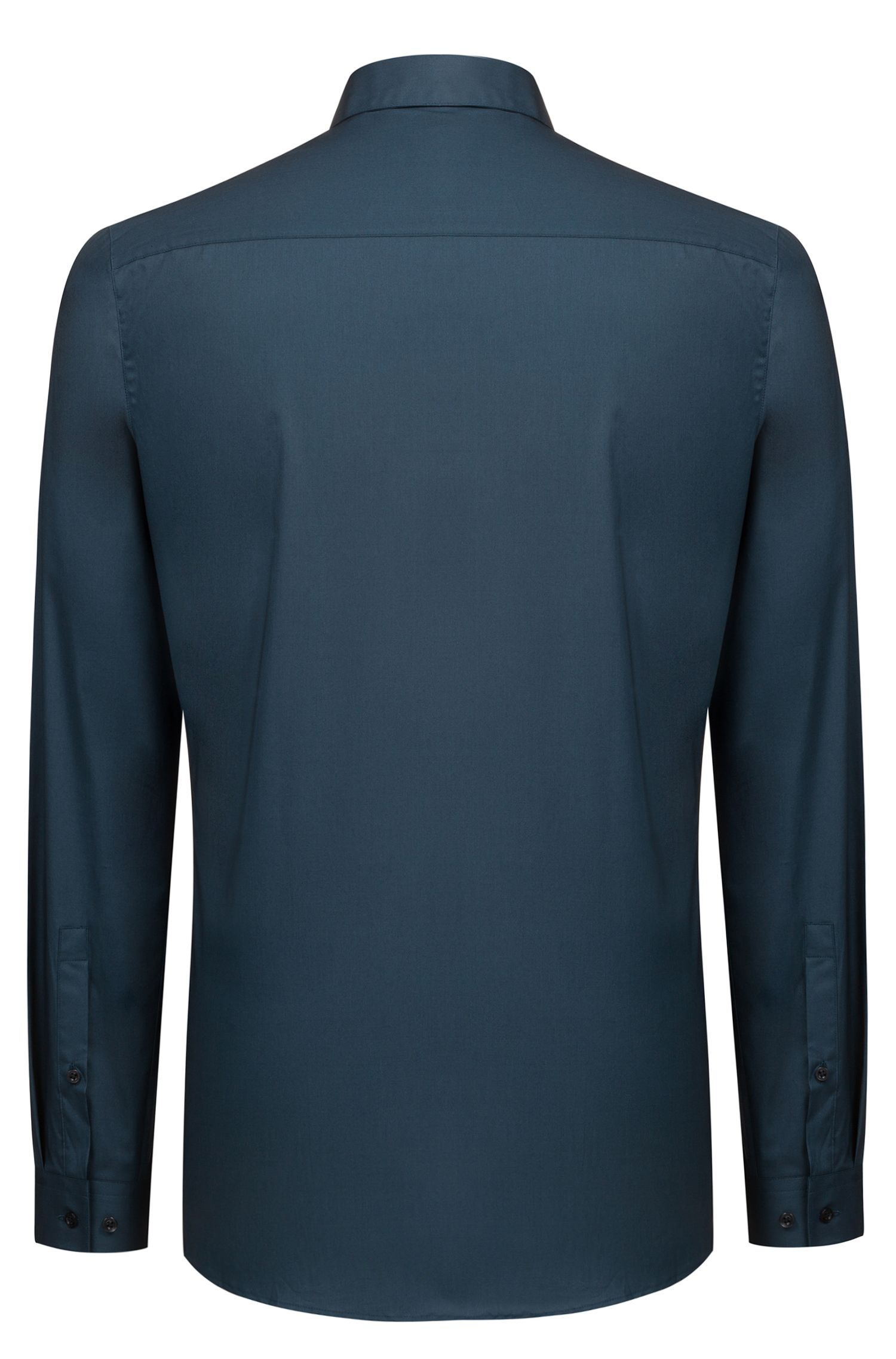 Extra slim-fit shirt in stretch cotton, Dark Green