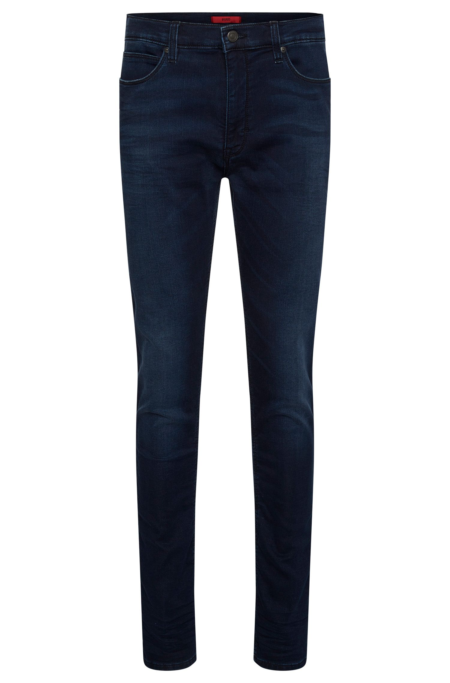 Slim-fit jeans in stretchy cotton blend with used wash: 'HUGO 734'