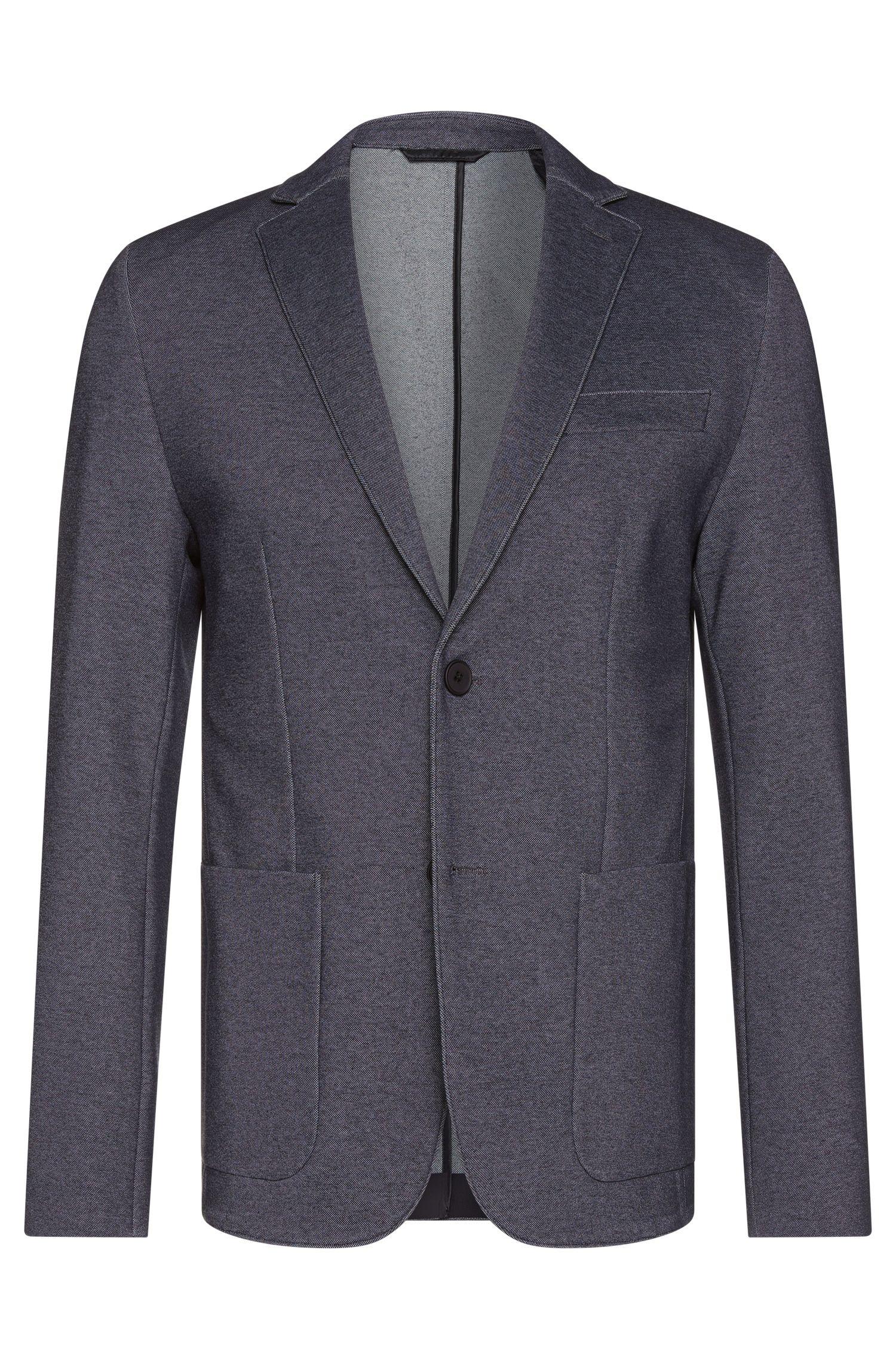Veste de costume Extra Slim Fit en coton stretch mélangé à la structure marquée: «Ricko1»