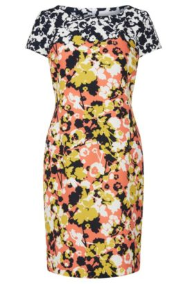 Patterned dress in stretchy material blend: 'Donisa', Patterned