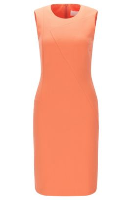 Sheath dress in a stretchy material blend with viscose and cotton: 'Demisana', Light Red