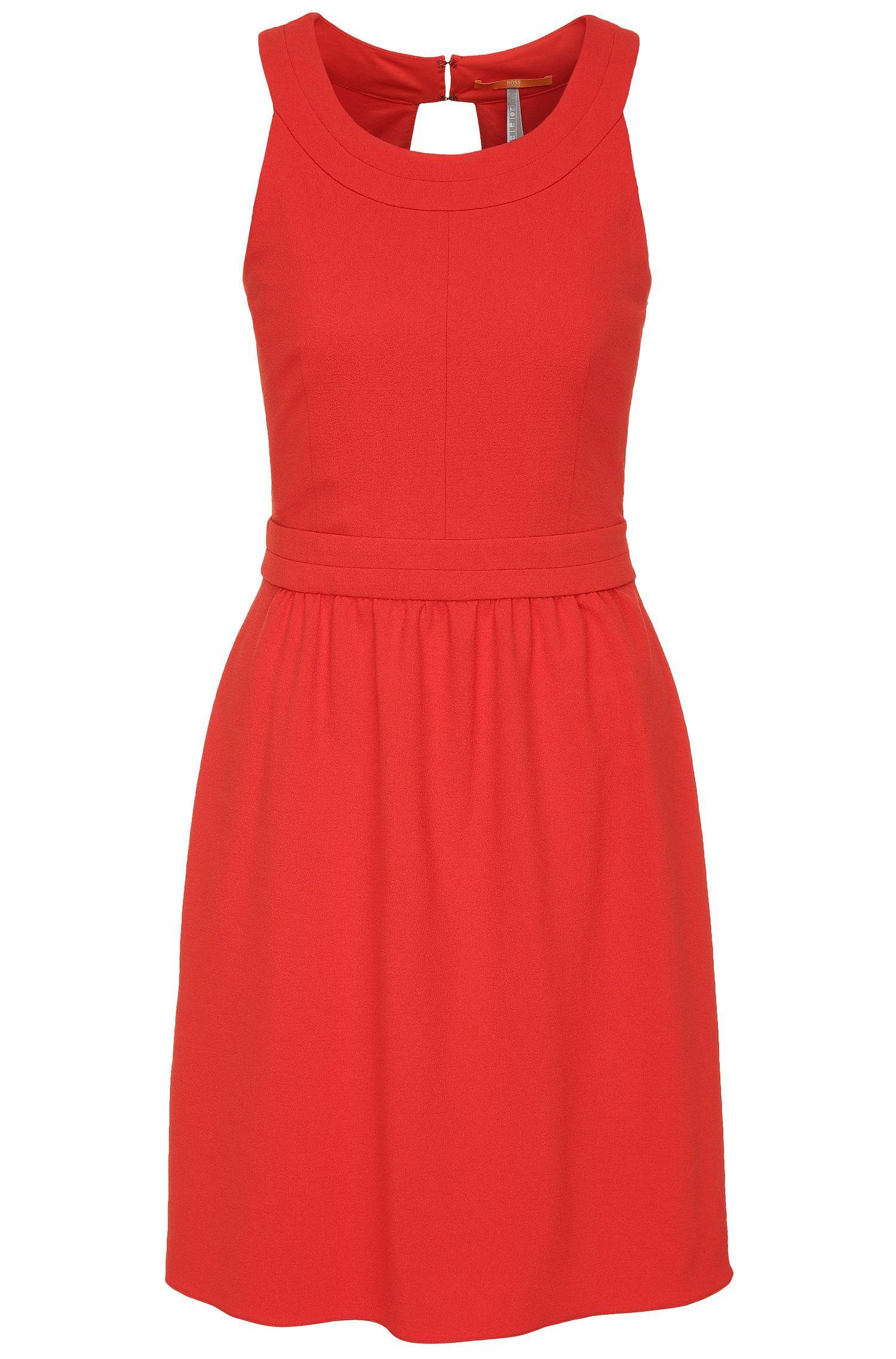 Regular-fit jurk van een elastische materiaalmix met cut-out: 'Akaty'