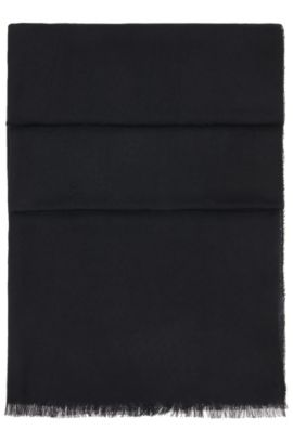 Woven scarf in modal: 'Scarf-Calso', Black