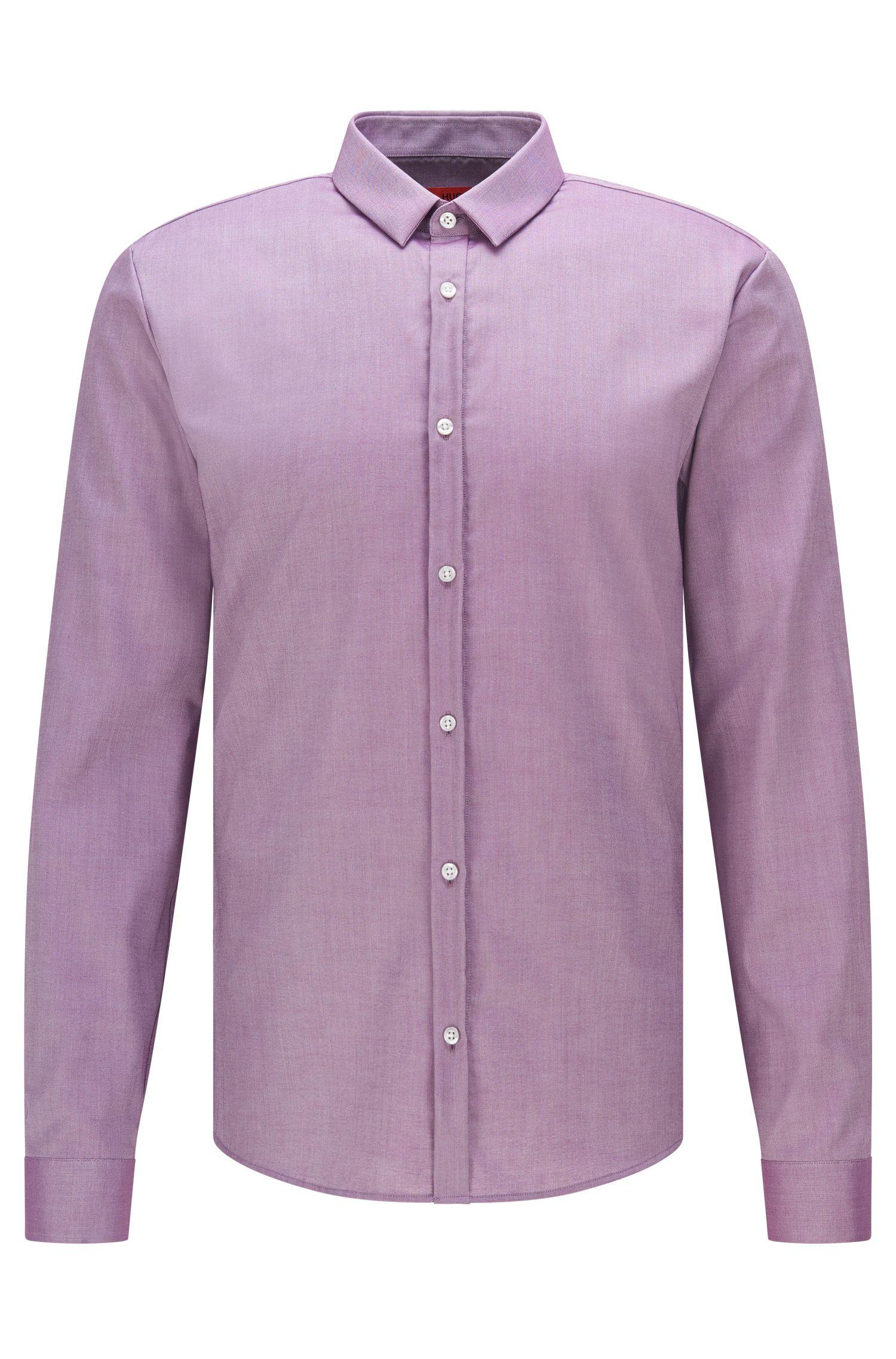 Extra slim-fit overhemd van gemakkelijk te strijken katoen: 'Ero3'