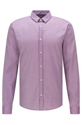 Camisa extra slim fit en algodón fácil de planchar: 'Ero3', Lila
