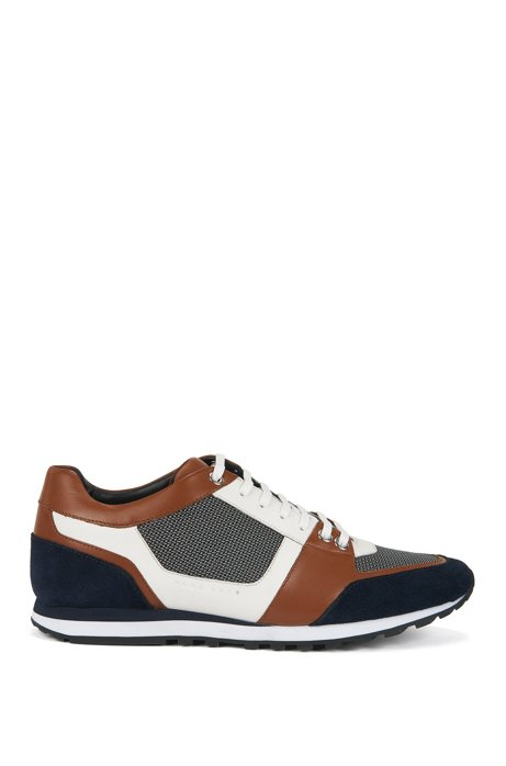 Colourblock trainers with hybrid uppers BOSS Visa Payment Cheap Price Cheap Lowest Price k4J9HNBF