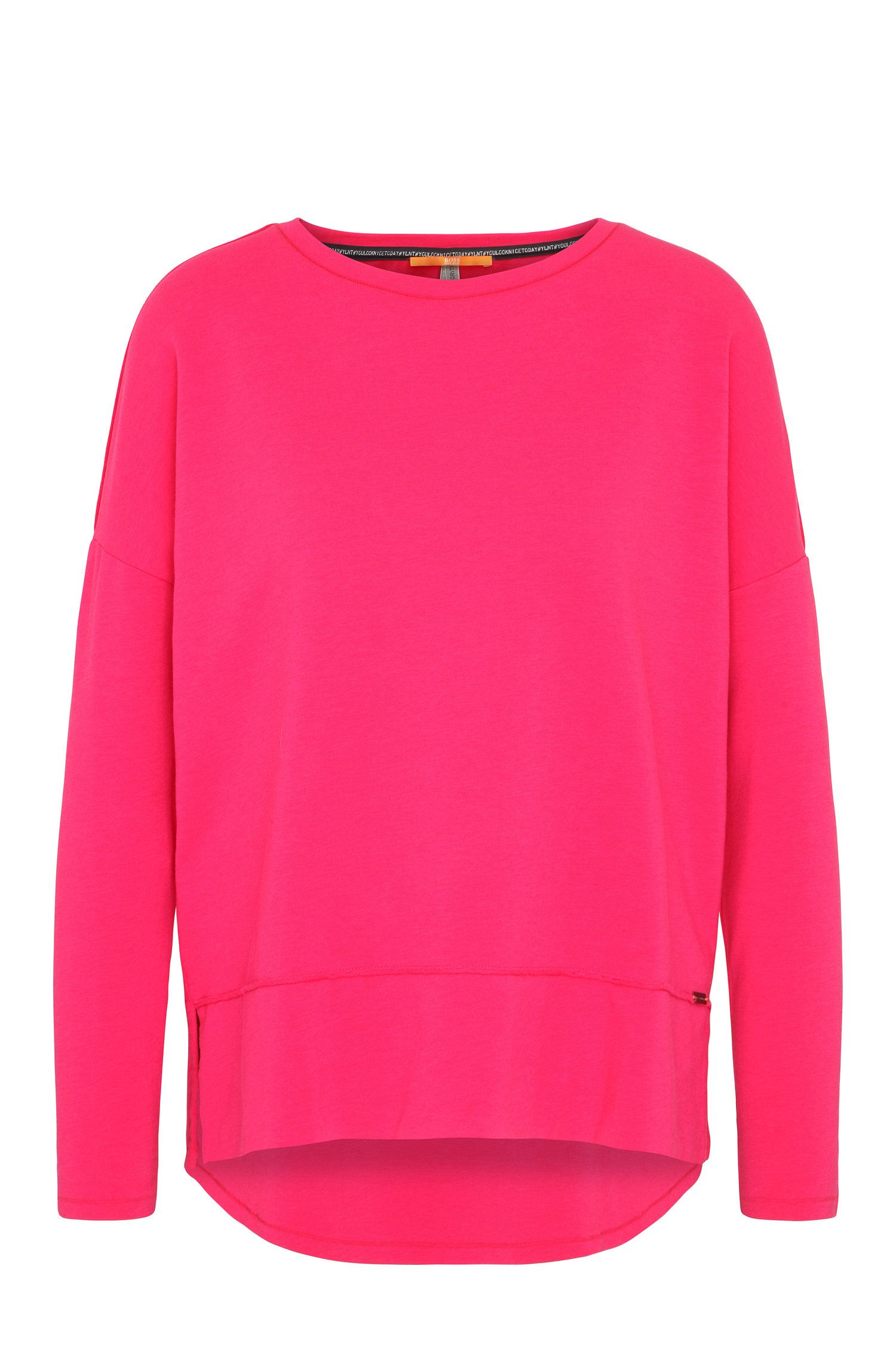 Pull Relaxed Fit en jersey à bords bruts