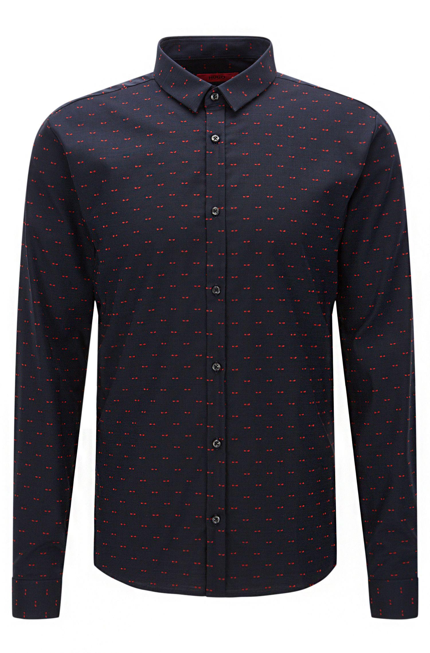 Camicia extra slim fit a disegni in cotone: 'Ero3'