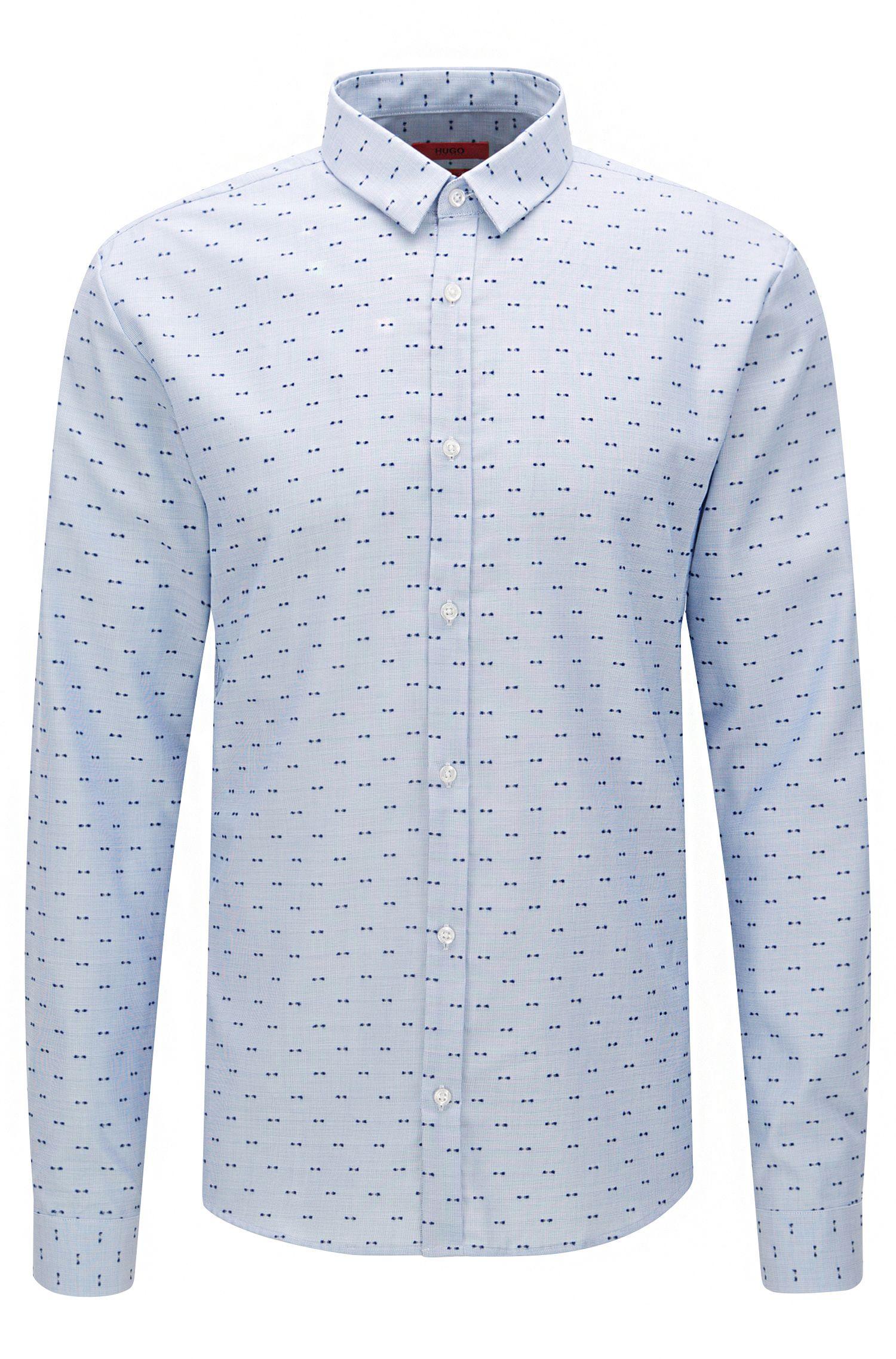 Extra slim-fit overhemd van katoen met dessin: 'Ero3'
