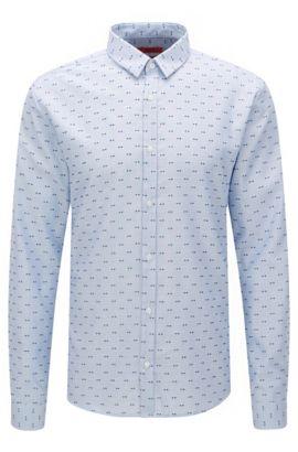 Extra slim-fit overhemd van katoen met dessin: 'Ero3', Blauw