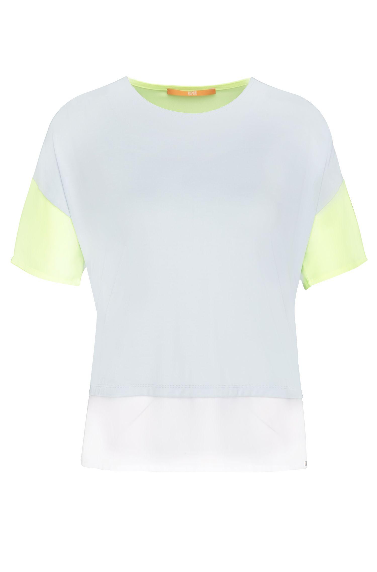 T-shirt Oversize Fit en modal mélangé extensible: «Tustripe»