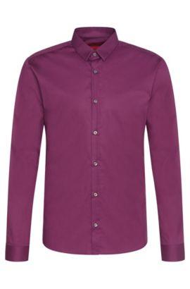 Extra slim-fit overhemd van stretchkatoen: 'Ero3', Lila